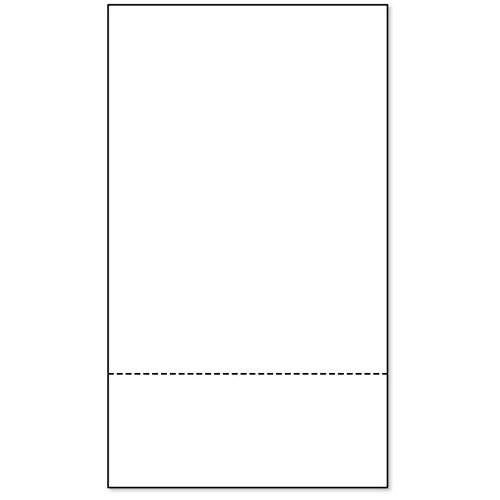 PrintWorks Professional Paper, 8.5 x 14, 24 lb, 1 Horizontal Perf 3.5'' From Bottom, 2500 Sheets, White (04173) by PrintWorks Professional