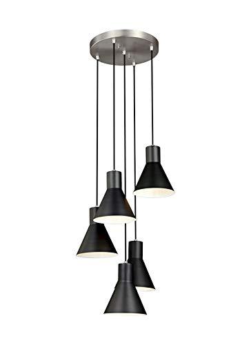 Sea Gull Lighting 5141305EN3-962 Five Light Cluster Pendant, Brushed Nickel