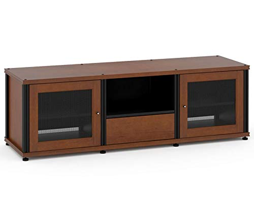 Salamander Synergy 236 A/V Cabinet w/ Two Doors & Media Drawer (Cherry/Black) ()