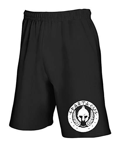 Fun3584 Cresta T Pantaloncini Color Spartacus Tuta shirtshock Nero De qTYawIYr