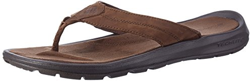Columbia Men's Manarola II Casual Sandals, Brown Leather, Rubber, 17 M