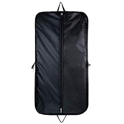 Hangerworld Funda 110cm Porta Trajes de Viaje Gris con Asas y Cremallera