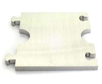 Rohrdurchmesser: 15mm DUB SPENCER Exklusive Edelstahl Heizk/örper Rosette Eckig Doppelrosette f/ür HEIZUNG