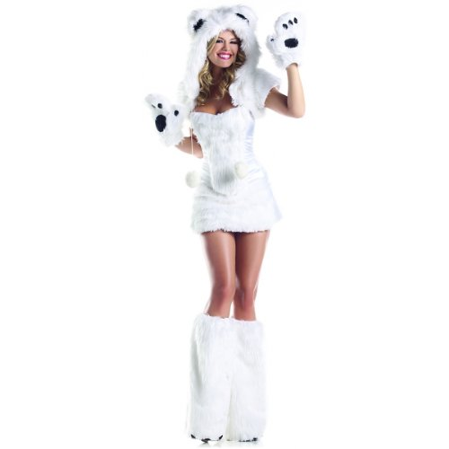 Sexy Bear (Be Wicked Costumes Women's Polar AR Costume, White, Medium/Large)