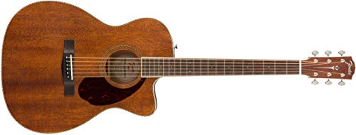 Fender Paramount PM-3 Acoustic Guitar – All-Mahogany – Triple-0 Body Style – Ovangkol Fingerboard – With Case