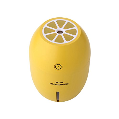 Yidarton Ultrasonic Humidifier Personal Humidifier Mini Travel Tabletop Humidifier USB Operated Ultra Quiet Mist Humidifier for Home Yoga Office Yellow