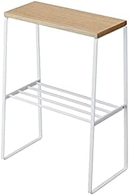 Yamazaki Home Tosca Narrow Room End living roomend tables, One Size, White