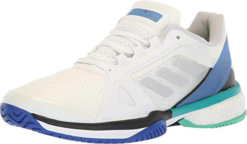 adidas aSMC Barricade Boost Shoe - Women's Tennis 10.5 White/Stone/Ray Blue