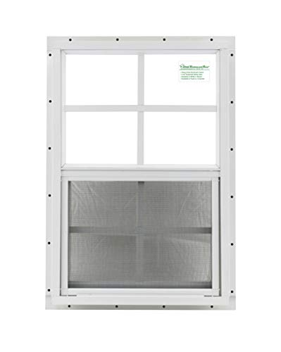 - Shed Window 14 X 21 White J-Channel Mount Safety Glass