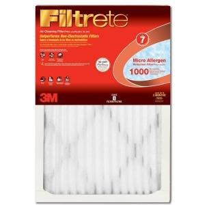 20x25x1, Filtrete Micro Allergen Air Filter, MERV 11, by 3m