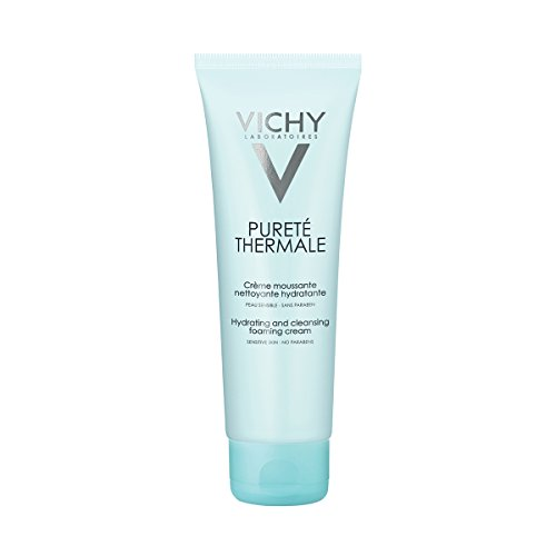 Vichy Pureté Thermale Hydrating Foaming Cream Facial Cleanser, Paraben-free, Alcohol-free, 4.2 Fl. Oz.