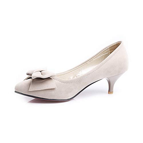 Jane Shoes Urethane Bows Solid Pumps Gray Womens APL10619 Mary BalaMasa qt4S0x