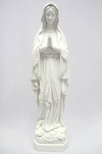 27'' Our Lady of Lourdes Blessed Virgin Mary Catholic Statue Sculpture Figure Vittoria Collection Made in Italy by Vittoria Collection