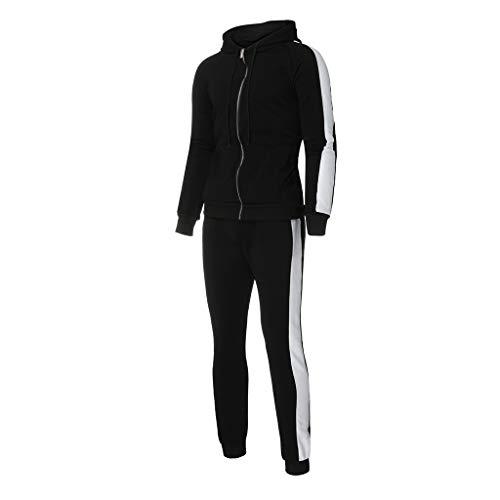 Realdo Mens Tracksuit Set Full Zip Long Sleeve Running Jogging Sportwear Suit (Best Cheap Mens Clothing Websites Uk)