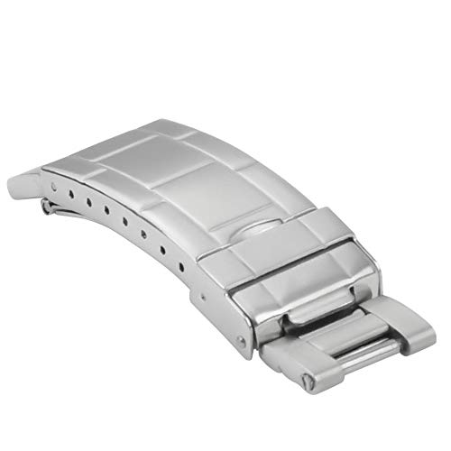 FLIP LOCK BUCKLE CLASP FOR ROLEX OYSTER BAND BRACELET BRUSHED STAINLESS ()