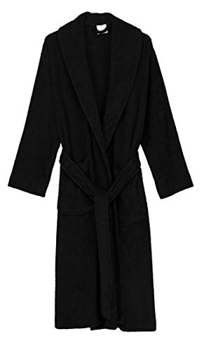 TowelSelections Women's Robe, Turkish Cotton Terry Shawl Bathrobe X-Large/XX-Large Licorice ()