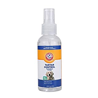 Arm & Hammer For Pets Dog Dental Care Tartar Control Dental Spray for Dogs | Reduces Plaque & Tartar Buildup Without Brushing | Mint Flavor, 4 Ounces