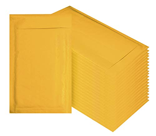 - Amiff Kraft Bubble mailers 4x7 Padded envelopes 4 x 7. Exterior Size 5x8 (5 x 8). Pack of 20 Kraft Paper Cushion envelopes. Peel & Seal. Mailing & Shipping & Packing & Packaging.