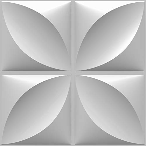Decorative 3D Wall Panels Textured for Interior and Exterior Wall Decor. Design Boards. Pack of 12 Tiles. (Madrid)