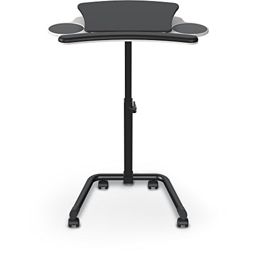 Balt 89764 Lapmatic Sit-Stand Mobile Workstation, Laptop Stand, Lectern, 26