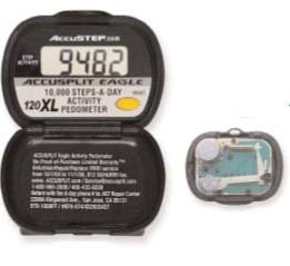 Accusplit AE100 Original Activity Pedometer Series for 10,000 Steps-A-Day AE120XL-XBX