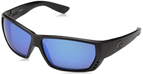 Costa Del Mar Tuna Alley Sunglasses, Blackout, Blue Mirror 400 Glass Lens ()