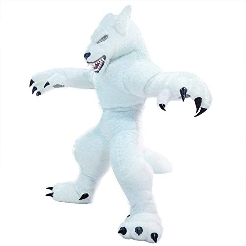 Inflatable Werewolf Costume Adult Cosplay Werewolf Makeup Halloween