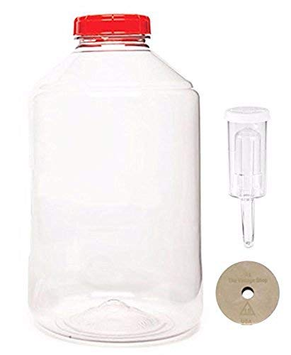 Home Brew Ohio 7 gal Fermonster Wide Mouth Carboy With #10 Drilled Stopper And Econolock by Home Brew Ohio (Image #1)