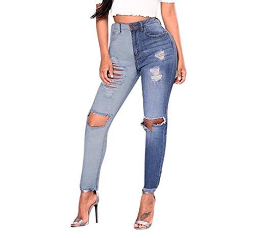 Strappati Donna Tempo Primaverile Sottile Tendenza Denim Trousers Blau Magnifico Fashion Pants Fidanzato Targogo Lunghi Estivi Abbigliamento Distressed Libero Jeans AwqcEw5v