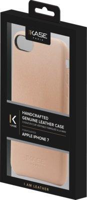 Coque en Cuir Véritable Fabriquée à la Mainpour Apple iPhone 7, Rose Pastel