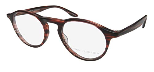 Barton Perreira Mcgraw Mens/Womens Designer Full-Rim Shape Beautiful Adult Size Eyeglasses/Eyeglass Frame (47-21-145, Matte Berry Pattern) (New Fashion Brillen Frames)