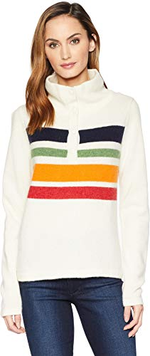Woolrich Women's Snap T Sweater Ivory X-Large