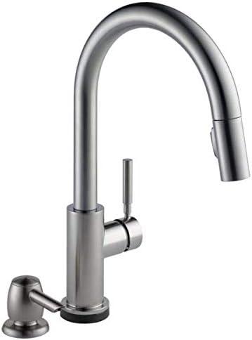 Delta Trask 19933t Spsd Dst Touch Kitchen Faucet By Delta Faucet Amazon Com