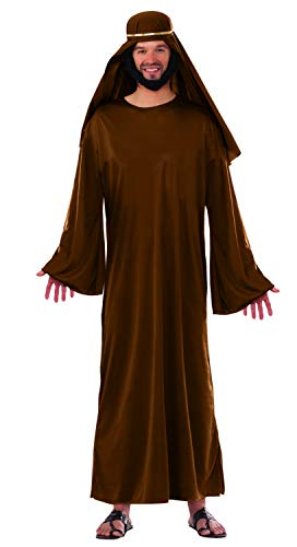 Forum Novelties Adult Mens Christian Biblical Shepherd Nativity Wiseman Robe Costume Brown