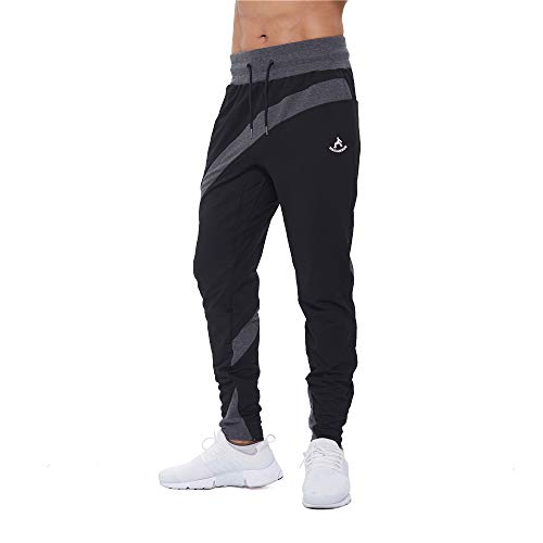 SAMZUEO Men's Joggers Pants – Athletic Running Sport (Cruise) Active Sweatpants
