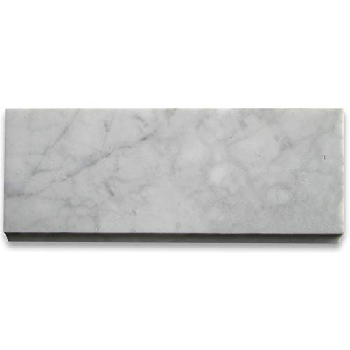 Carrara White Italian Carrera Marble Baseboard Trim Molding 5 x 12 Honed