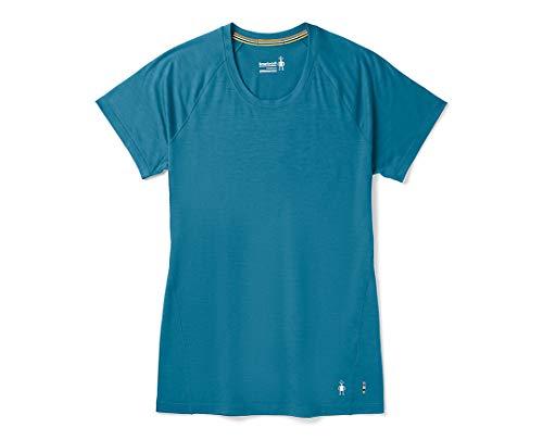 SmartWool Women's Merino 150 Baselayer Short Sleeve Light Marlin Blue Large