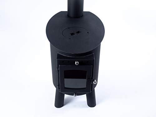 outbacker ovale Bell Tente Poêle – Porte en verre: