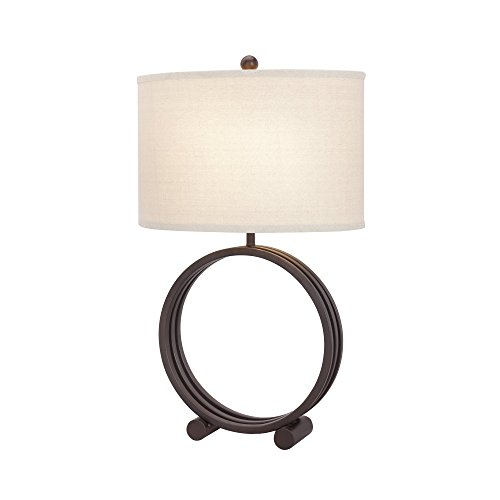 Fangio Lighting W-1507ORB 1507 26.5″ Oil Rubbed Bronze Metal Circle Table Lamp Review