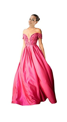 hot pink 80s prom dress - 2
