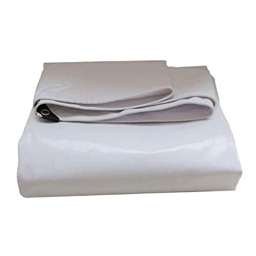 (LOFAMI Waterproof Tent Tarps Padded Waterproof PVC Tarpaulin Sunscreen Car Truck Cover Canopy Cloth Tarpaulin Tarps Sunshade Tarpaulin Tent Tarps White Tarps Tarpaulin (Color : White, Size : 23M))