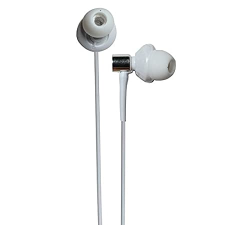 Wired Handsfree BassHeads In Ear Super Extra Bass Earphones Compatible For Vivo V5  White Wired Headsets