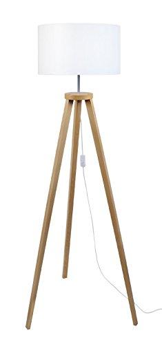 40/W Tosel 51113/l/ámpara de pie 1/luz madera color blanco E27 40/x 155/cm