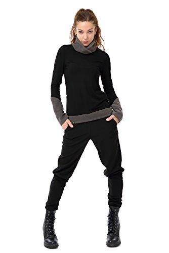 Turtleneck Sweatshirt Women Winter Sweater black Fleece Pullover black - Fahion Fair