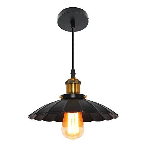 (Ledhopp Ceiling Lamp Semi Flush Mount Ceiling Lamp Ceiling Light Metal Pendant Light for Dining Room Bedroom Livingroom (Black,)
