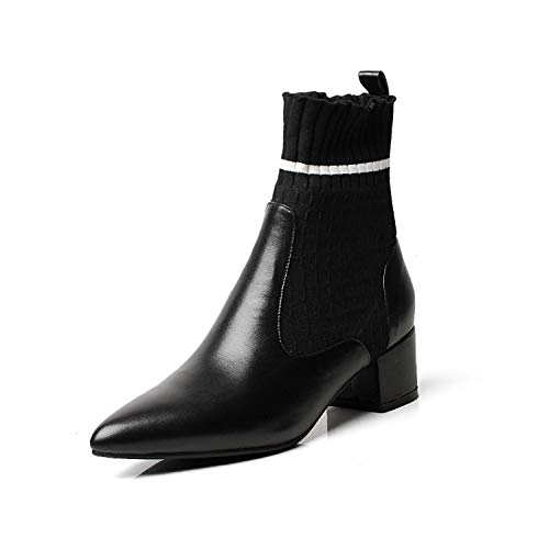 Talon Femme pour Bout Plat Black Pointu à Bottines à v0qwA5xF