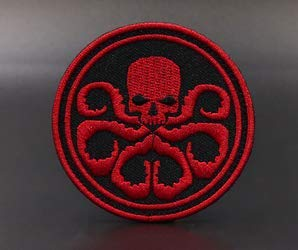 Marvel Comics Marvel Avengers Alliance Villain Hydra Military Patch Fabric Embroidered Badges Patch Tactical Stickers with Hook & Loop(CQJP) (color2) ()