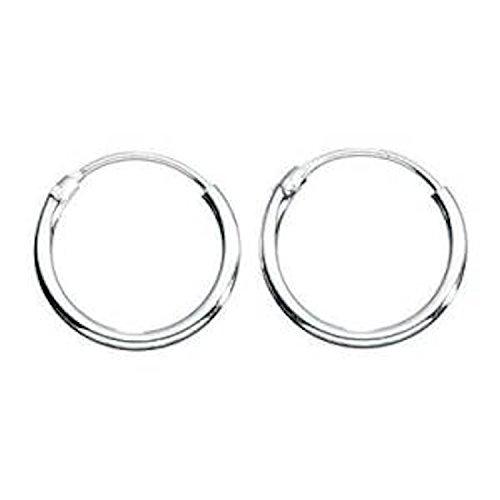 2 Pair Hoop Earring - Small Silver Hoop Earrings 2 pairs supplied 6mm Diam Quite Rare