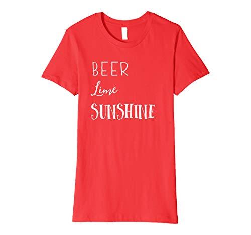(Womens Beer lime sunshine t-shirt)