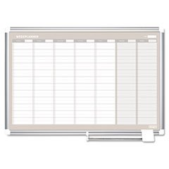 ** MasterVision Weekly Planner, 36x24, Aluminum Frame **